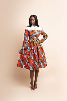African Fashion Ankara, Latest African Fashion Dresses, African Dresses For Women, Dresses For Teens, African Outfits, Ankara Dress Styles, African Dress Styles, African Style, Modern African Print Dresses