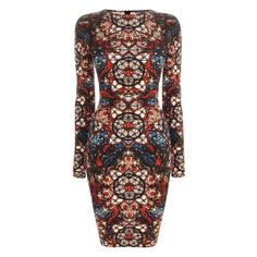 Alexander McQueen- Stained Glass Mini Dress