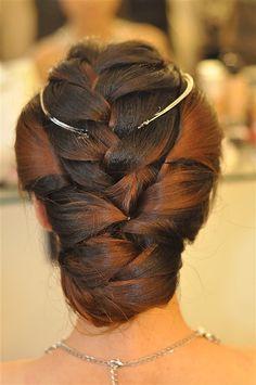 Hair inspiration #bridal #braided #updo