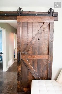 Sliding Barn Doors Inside House For More Interior Barn . Cleverly Use Interior Sliding Barn Doors In Your Home . Sliding Doors Like This Barn Door Allow Rooms To Be Hidden. Home and Family Barn Style Sliding Doors, Double Barn Doors, Barn Door Designs, The Doors, Entry Doors, Patio Doors, Interior Barn Doors, Pantry Interior, Diy Interior
