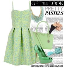 """""""Pastel Party"""" by jamilia-wallace on Polyvore"""