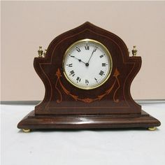 Antique Clock French Victorian with Inlay Walnut Case from Drury House Antiques Exclusively on Ruby Lane