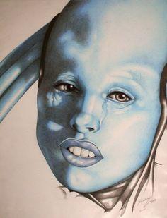 "Illustration By Rolando Lopez   Maïwenn Le Besco as Diva Plavalaguna in ""Fifth Element"""