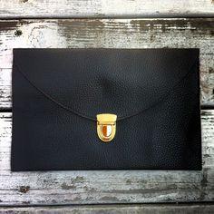 Copious: Black Fashion Envelope Clutch