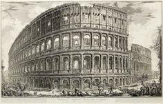 Giovanni Battista Piranesi (Italian, 1720-1778) - Vedute di Roma (Hind 1,57,65,79) - Plate of The 'Colosseum', 1757 - Dim: 438 x 695mm (17 1/4 x 27 1/4in).