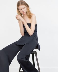 Shop Women's Zara size XS Wide Leg at a discounted price at Poshmark. Had these altered. Will add the length. Satin Trousers, Silk Satin, Fashion Tips, Fashion Design, Fashion Trends, Wide Leg, Women Wear, Jumpsuit, Legs