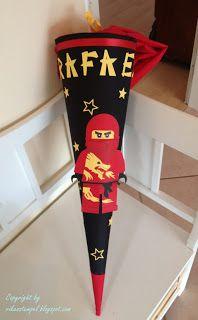 Rike´s Stempel Blog: Ninjago-Schültüte....