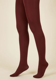 Accent Your Ensemble Tights in Merlot in S, #ModCloth