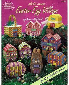 Easter Egg Village Plastic Canvas Pattern by grammysyarngarden, $5.50