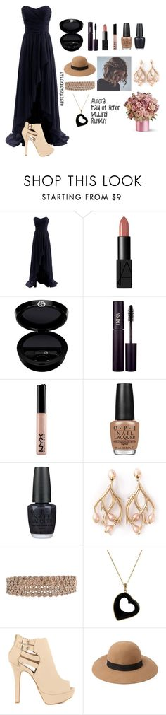 """Aurora MOH"" by disneyfashioneveryday ❤ liked on Polyvore featuring NARS Cosmetics, Giorgio Armani, INIKA, NYX, OPI, Shaun Leane, Qupid and Forever 21"