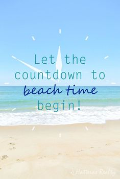 Countdown to beach time!