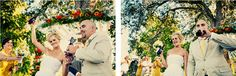 """Bride and groom crack open a beer after saying """"I Do."""" LOVE THIS IDEA."""