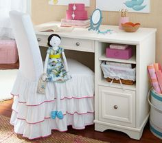 Cute desk & chair for girls room!   Pottery Barn Kids