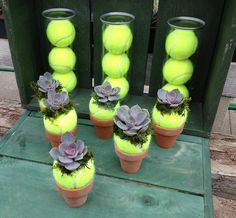 tennis ball can centerpiece