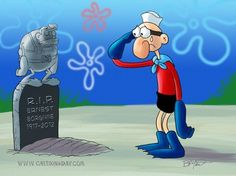 R.I.P. Mermaid Man ~ Ernest Borgnine