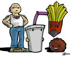 Aqua Teen Hunger Force by joefreakinrocks Aqua Teen Hunger Force, American Dad, Adult Cartoons, Futurama, Geek Art, Cartoon Art, Tattoo Inspiration, Bart Simpson, Cool Art