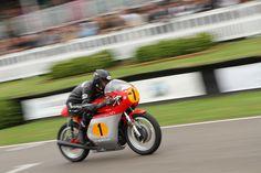 Motorbike racing at Goodwood Revival