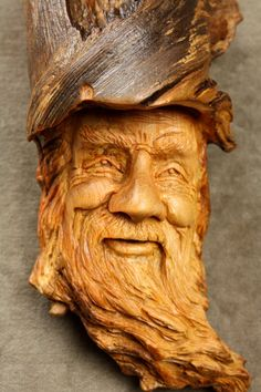 Christmas Gift Wood Spirit Wood carving a by TreeWizWoodCarvings, $85.00