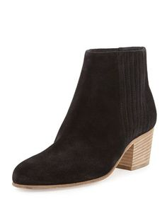 Haider+Suede+Bootie,+Black+by+Vince+at+Neiman+Marcus.