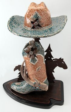 Little Big Horn mosaic sculpture  Repined By    http://www.mosaicmosaic.com/