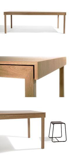 L Dinning Table by David Moreland Nice detail My Furniture, Design Furniture, Plywood Furniture, Furniture Projects, Modern Furniture, Dinning Table, Wood Table, Deco Design, Furniture Inspiration