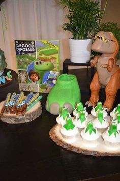 Cute cupcakes at The Good Dinosaur birthday party! See more party planning ideas at CatchMyParty.com!