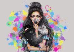 girly_m, art, and girl image Girly M, Girly Pics, Sarra Art, Girly Drawings, Most Beautiful Images, Wow Art, Brunette Girl, Girl Humor, Makeup Art
