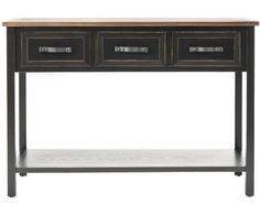This superb Safavieh Aiden Console Table is both stylish and functional. Crafted from pine wood and finished in black, this sleek Aiden table complements any living space or office perfectly. Norfolk, Sofa Tables, Dining Table, Dining Area, Consoles, Home Living, Living Room, Fine Furniture, Home Collections