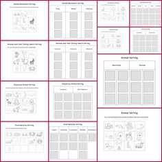 Animal sorting cut and paste worksheets >> Part of the Animal ...