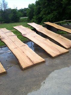 These white oak slabs are 16 feet long.