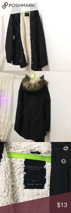 SALE! Warm Aeropostale Jacket Super warm Aeropostale black jacket in size Large Aeropostale Jackets & Coats