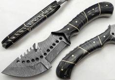 "9.75"" Custom Manufactured Beautiful Damascus Steel Hunting Knife"