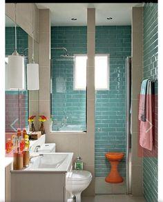 Idéias Internet - banheiro - azulejo retro