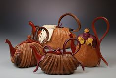 Wooden Teapot/Purses