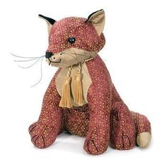 Rufus the Fox Doorstop from Dora Designs . . Sold by TartanPlusTweed.com A family owned kilt and gift shop in the Scottish Borders