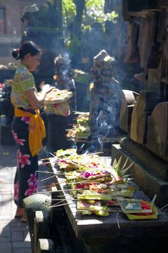Offerings at the Ubud market, Bali. Photograph by Thomas on Flickr