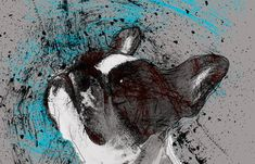 Pes hlava Dog Head pohyblivý animovaný obrázek gif animace Animated Scribble zdarma stažení