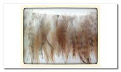 plumas tonos camel, beige y marrón