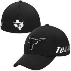 buy popular 5cddd 220b2 Top of the World Texas Longhorns Mens Black Ultrasonic Memory Fit Flex Hat