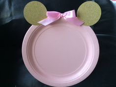 12 Minnie mouse placas/minnie mouse rosa y oro por BABYFROG2015