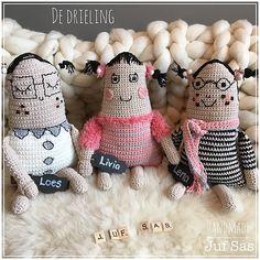 De vier vriendinnen handmade byjuf Sas met gratis patronen | Creatief | Zeeland | Juf Sas