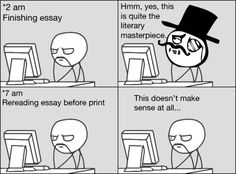 student essays funny