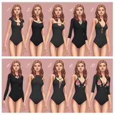 "smubuh: "" ♡ Bodysuits by Smubuh - Part 1 ♡ So obviously I have been working on bodysuits a lot recently! I thought that making a larger post with all of the downloads might be helpful for some. Also..."