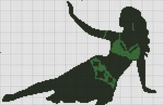 0 point de croix danseuse du ventre - cross stitch belly dancer