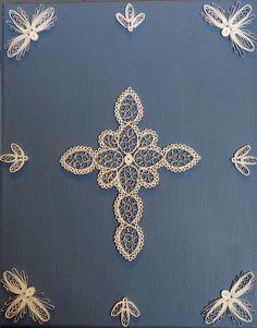"5"" Standard Cross on canvas"