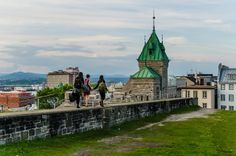 Walking on Quebec City Wall