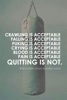 Keep going to Muay Thai training, get better, push myself further.