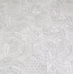 Not sure about cleaning, but the textured hexagonal tiles would be a great nod to the 1920s. AKDO Collections