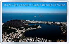 $3.29 - Acrylic Fridge Magnet: Brazil. Rio De Janeiro. View Of Lagoa Rodrigo De Freitas