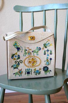 Enid Collins knockoff vintage 1960s Zodiac purse